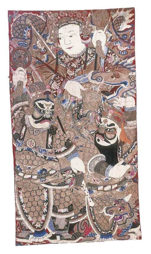 A single Peking Opera curtain,