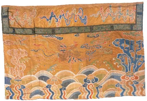 A large brocade hanging, the g