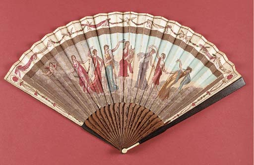 Apollo and the Muses, a fan, t