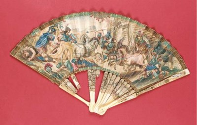 A magnificently painted fan, t