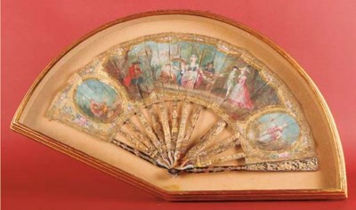 A fan, the silk leaf painted i