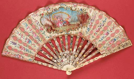A charming fan, the silk leaf