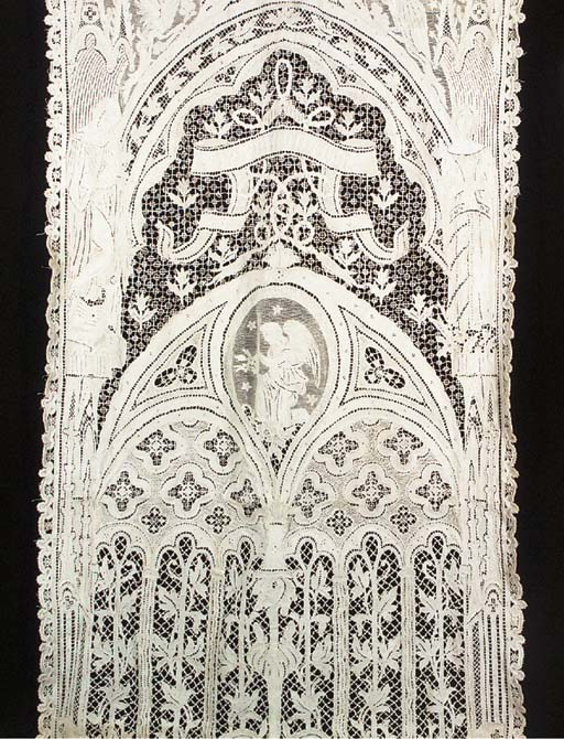 A large needlelace panel, with