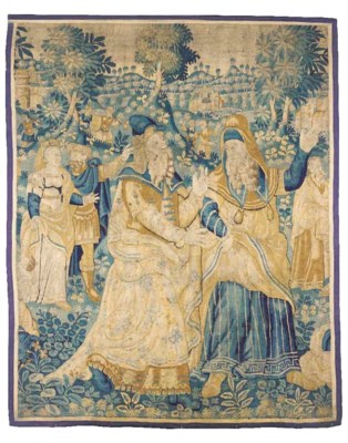 A large tapestry fragment, wov