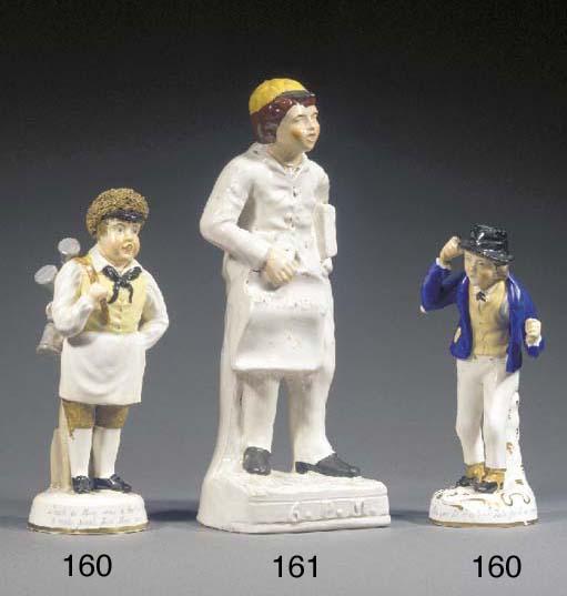 A porcelain figure of a tinker