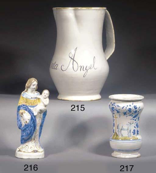 A Spanish faience named jug