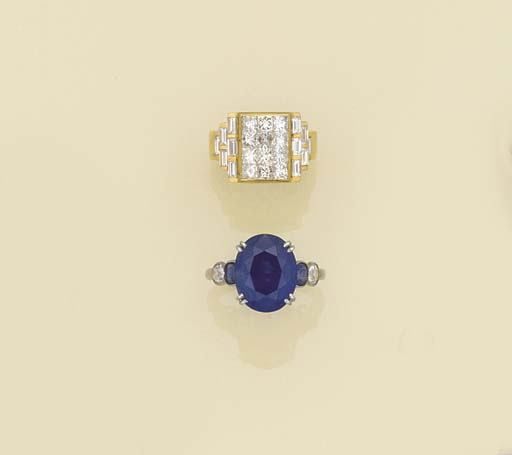 A princess-cut diamond and bag