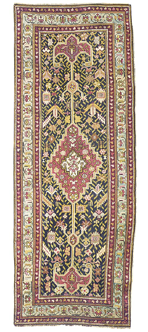 An antique Karabagh long rug,