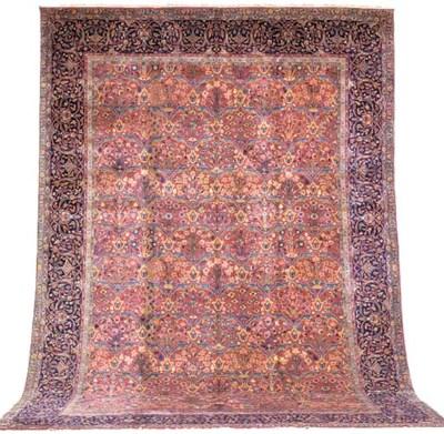 A fine Indian carpet of Mughal