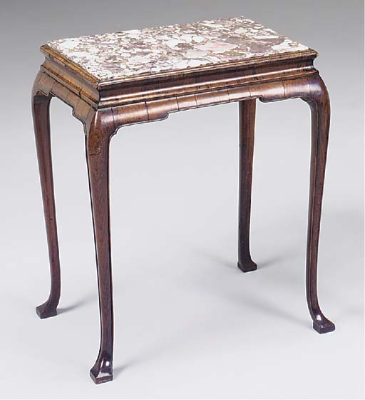 A GEORGE II KINGWOOD STAND OR