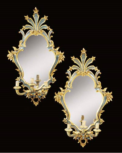 A pair of French or Italian ca