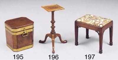 A George III mahogany stool