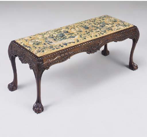 A needlework seat mahogany lon