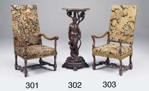 A Louis XIV fruitwood possibly