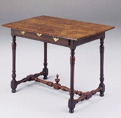 A MAHOGANY SIDE TABLE, 19TH CE