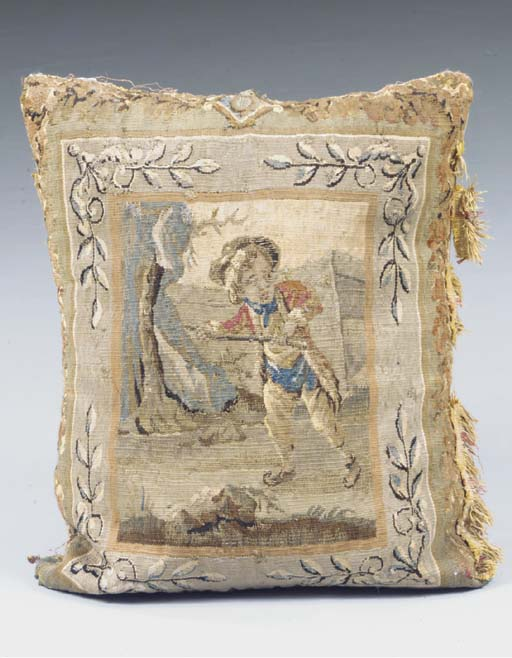 An Aubusson tapestry panel cus