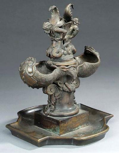 An Italian bronze model of a f