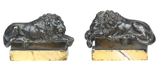 A pair of Italian bronze model