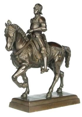 A German bronze model of the C