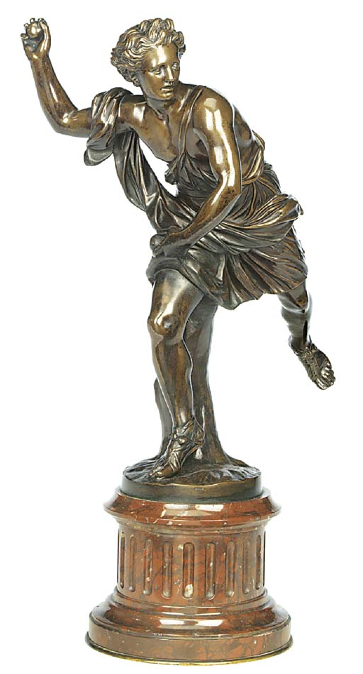 A French bronze figure of Hipp