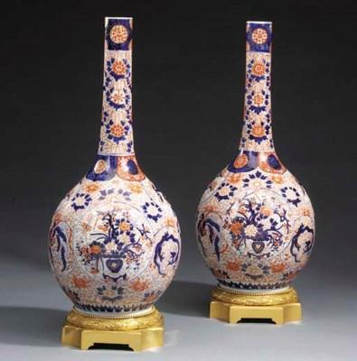 A pair of Chinese Imari glazed