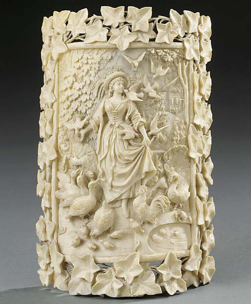 An Austrian or German carved i