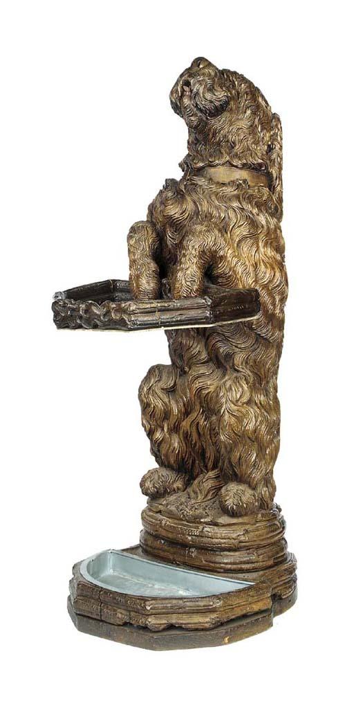 A 'Black Forest' carved wood u