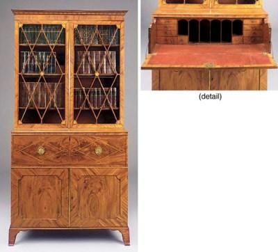 A George III mahogany inlaid s