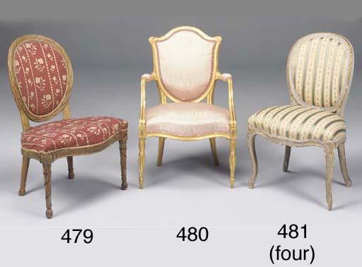 A set of four George III grey