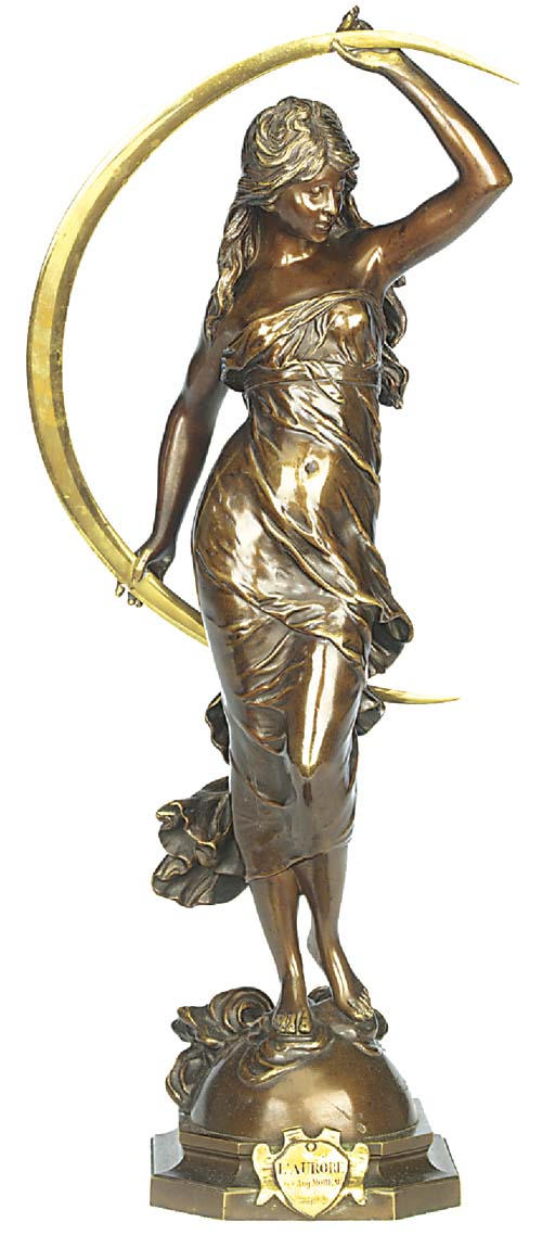 A French bronze figure of Auro