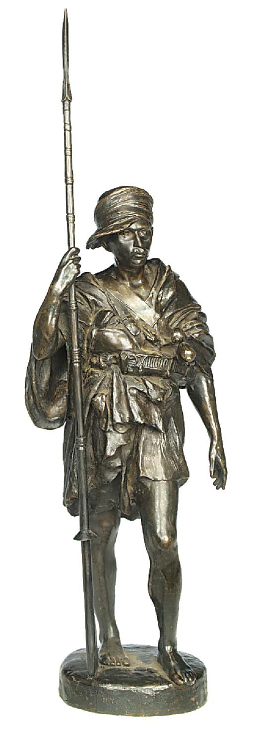 A French bronze model of a Ber
