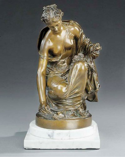 A French bronze figure of Flor