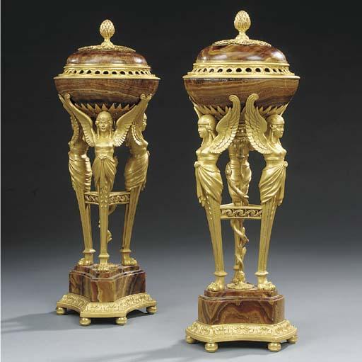 A pair of Continental alabastr