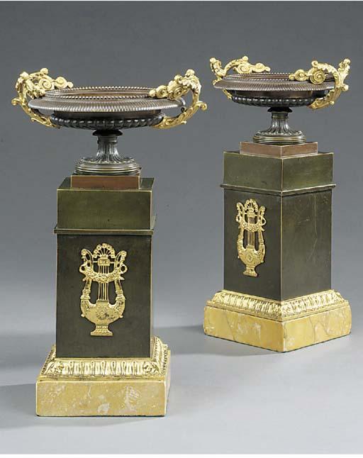 A pair of Napoleon III gilt an