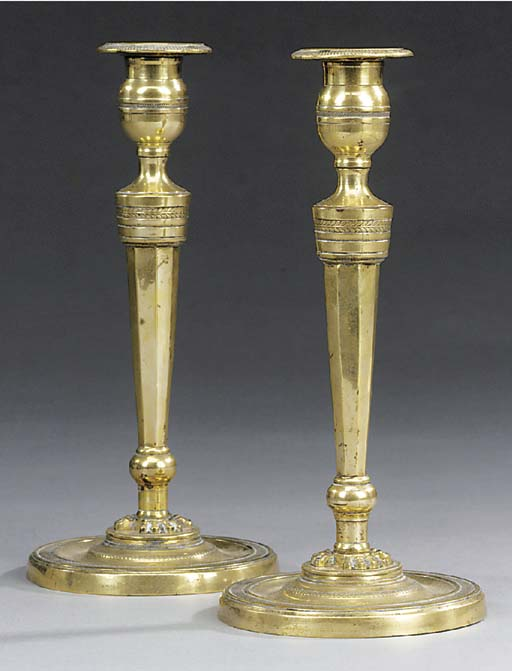 A pair of Directoire brass can