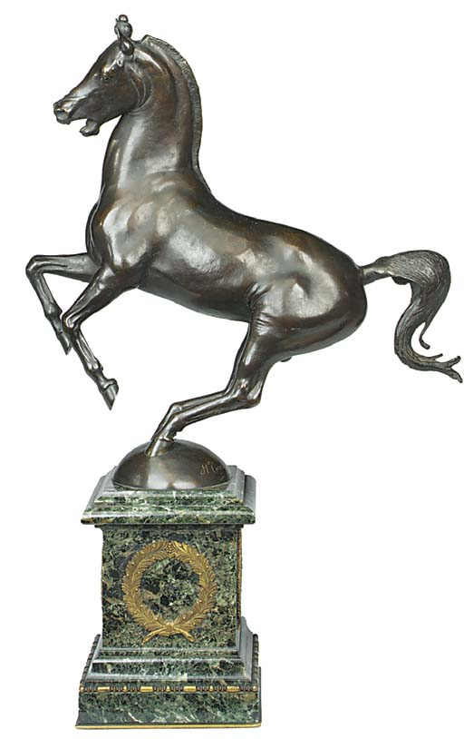 A French bronze model of a pra