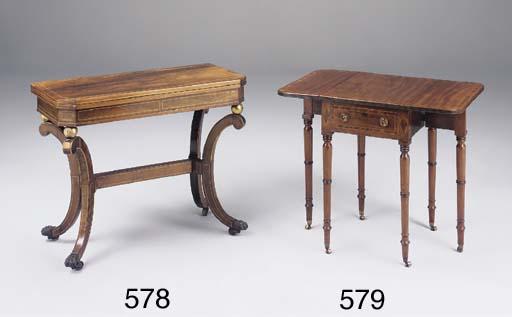 A Regency kingwood card table