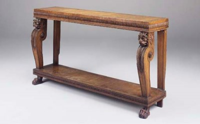 A William IV oak and inlaid co
