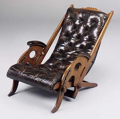 A Victorian mahogany folding r