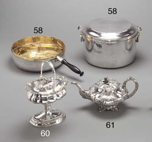 a silver-gilt tea pot