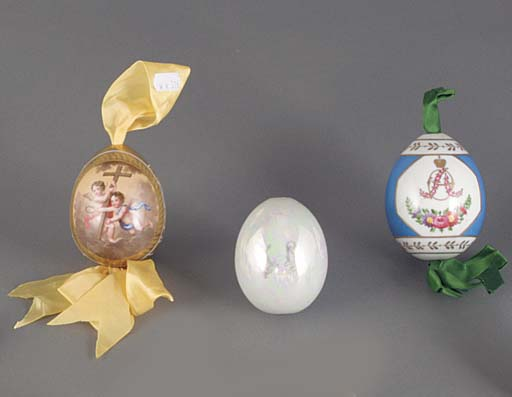 Three porcelain Easter Eggs