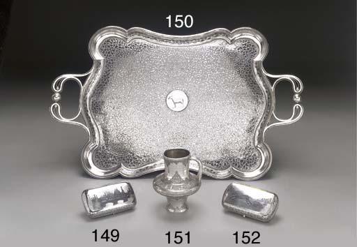A silver niello cigarette-case