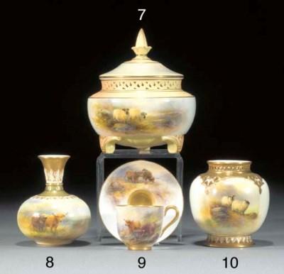 A Royal Worcester pot-pourri b