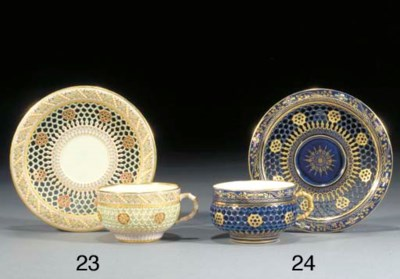 A Royal Worcester reticulated