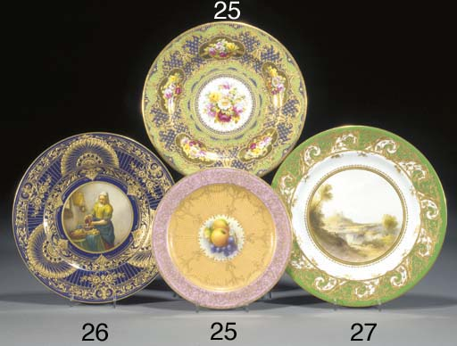 A Royal Worcester plate and a