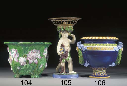 A Minton majolica figure from