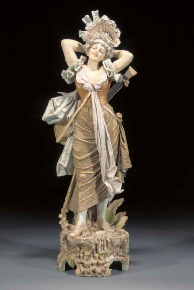 A large Royal Dux figure of a