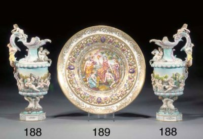 Two German porcelain ewers