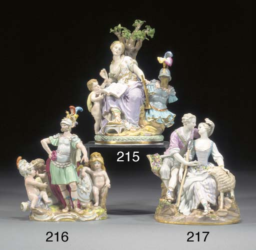 A Meissen group of Clio