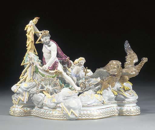 A large Meissen mythological g